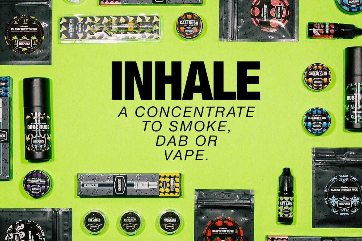 Inhale a concentrate to smoke, dab or vape.